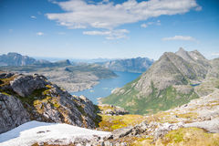 Fjord and mountains in Northern Norway Stock Photography