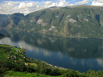 A Fjord and Mountains, Norway Stock Photo