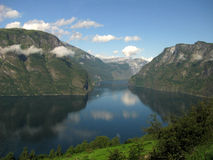 A Fjord and Mountains, Norway Royalty Free Stock Photos