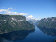 A Fjord and Mountains, Norway Stock Photos