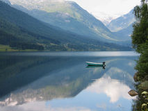 Fjord and mountains Norway Royalty Free Stock Image