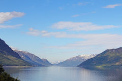 Fjord and mountains Stock Photography