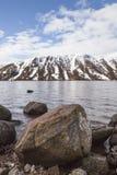 Fjord Muick i vinter på Glen Muick i Aberdeenshire Fotografering för Bildbyråer