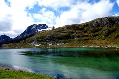 Fjord na Lofoten wyspach, Norwegia Fotografia Royalty Free