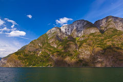 Fjord Naeroyfjord in Norway - famous UNESCO Site Royalty Free Stock Image