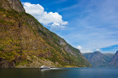 Fjord Naeroyfjord - Norway Stock Photo