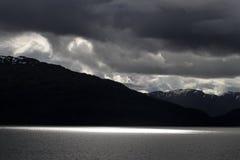 Fjord near Puerto Natales Stock Photo