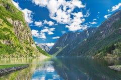 Fjord in Noorwegen Stock Foto's