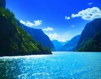 Fjord in Noorwegen Royalty-vrije Stock Afbeelding