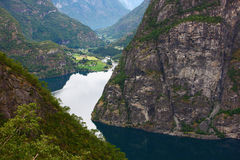 Fjord in north europe Stock Photos