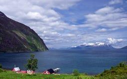 Fjord norueguês fotografia de stock