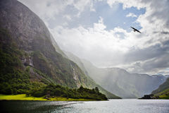 Fjord norueguês imagem de stock royalty free