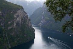 Fjord Norvège de Geiranger Images libres de droits