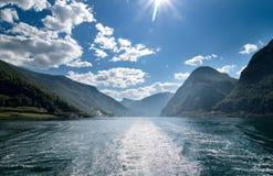 Fjord norvégien photographie stock libre de droits