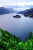 Fjord norvégien Photos stock