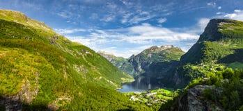 Fjord Norv?ge de Geiranger images libres de droits