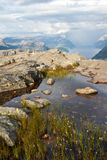 Fjord in Norway. View on fjord and pulpit rock in Norway Stock Image