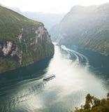 fjord norway Arkivfoto