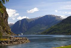 Fjord in Norway Stock Photos
