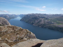 Fjord in Norway. Panoramic view of the fjord in Norway Royalty Free Stock Photo