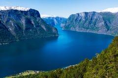 Fjord in Norway, Stegastein. Fjord in Norway, view from Stegastein viewpoint Royalty Free Stock Photos