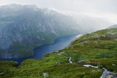 Fjord in Norwegen Stockbild