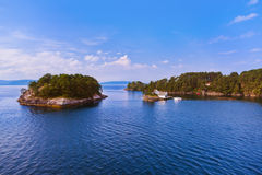 Fjord - Norwegen lizenzfreies stockbild