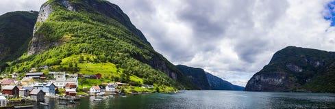 Fjord in Norwegen Stockbilder
