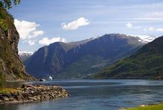 Fjord in Norwegen Stockfotos