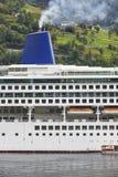 Fjord norweski krajobraz Rejs podróż Geiranger trasa visitant zdjęcie royalty free