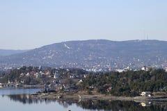 fjord oslo Arkivbild
