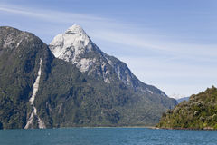 Fjord panorama at south america patagonia. Royalty Free Stock Images