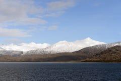 Fjord Pia archipelag Tierra Del Fuego fotografia royalty free