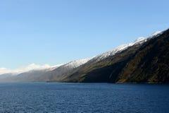 Fjord Pia das Archipel von Tierra del Fuego lizenzfreies stockfoto