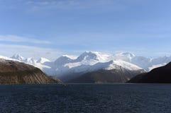 Fjord Pia das Archipel von Tierra del Fuego stockfoto