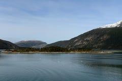 Fjord Pia das Archipel von Tierra del Fuego lizenzfreie stockfotografie