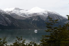 Fjord Pia lodowiec archipelag Tierra Del Fuego zdjęcia royalty free