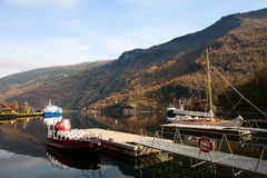 Fjord Pier. Quiet marina, located in the fjord Royalty Free Stock Photography