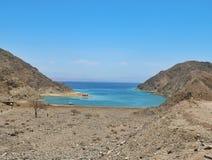 Fjord Podpalany Egipt Obrazy Royalty Free
