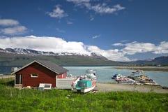 Fjord port stock photo