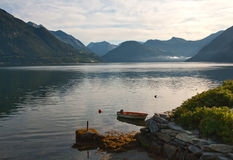 fjord ranek Obraz Royalty Free