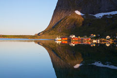 Fjord reflection Stock Image