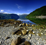 Fjord reflections Royalty Free Stock Photo