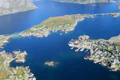 The fjord of Reine in Lofoten Stock Images