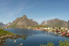 The fjord of Reine in Lofoten. The fjord of Reine, Lofoten islands royalty free stock image