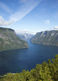 Fjord in Scandinavia Stock Photography
