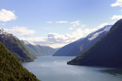 Fjord scenery Royalty Free Stock Images