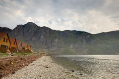 Fjord shore Stock Photography