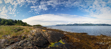 Fjord shore. Beautiful view on fjord shore Royalty Free Stock Photos