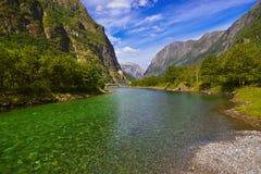 Fjord Sognefjord - Noorwegen Royalty-vrije Stock Foto's